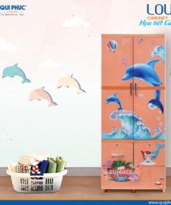 Tủ nhựa Louis - Cá Heo Qui Phúc