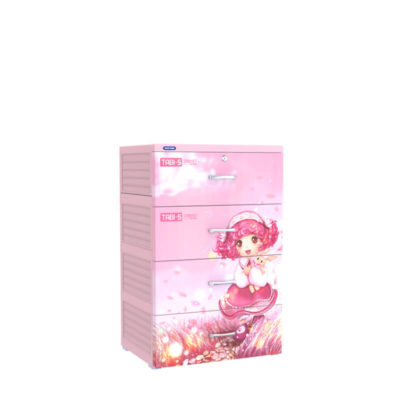 Tủ Nhựa Tabi-S Hồng 4 Ngăn - Duy Tân