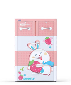 Tủ Nhựa Tabi-L Hồng 4 Tầng - Duy Tân